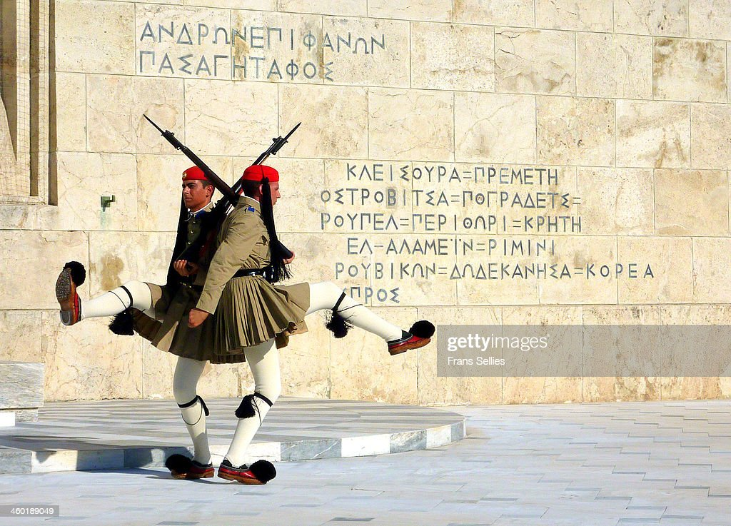 Changing of the guards,  Athens : Nieuwsfoto's