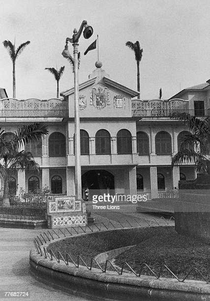 The Presidential Palace in Santa Isabel capital of Equatorial Guinea circa 1968