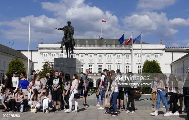 The Presidential Palace in Warsaw Poland is the elegant classicist latest version of a building that has stood on the Krakowskie Przedmieście site...