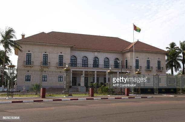 The Presidential Palace the residence of the President of GuineaBissau is pictured on May 9 in Bissau Clashes broke out on October 18 at the ruling...