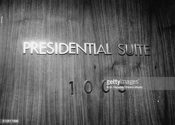 The Presidential Suite 1005 The Beatles' room at the Tokyo Hilton Hotel Japan July 2 1966