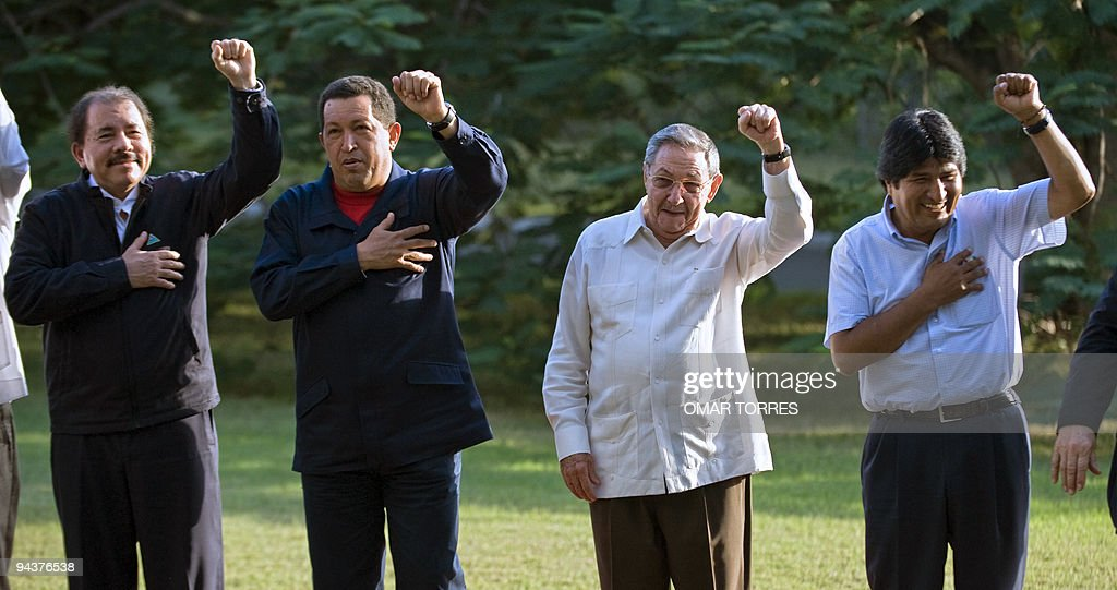 (L to R) The Presidents of, Nicaragua, D : News Photo