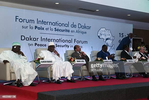 The presidium of International Forum on Peace and Security in Africa is seen in Dakar on December 16 2014 AFP PHOTO / SEYLLOU