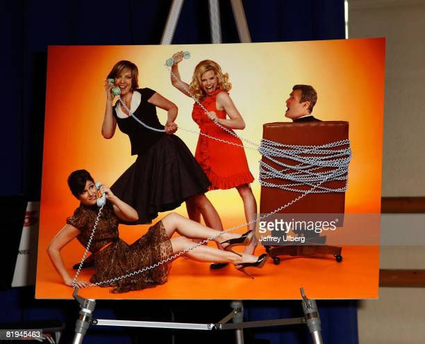 The press conference for 9 To 5 The Musical at the New 42nd Street Studios on July 15 2008 in New York City
