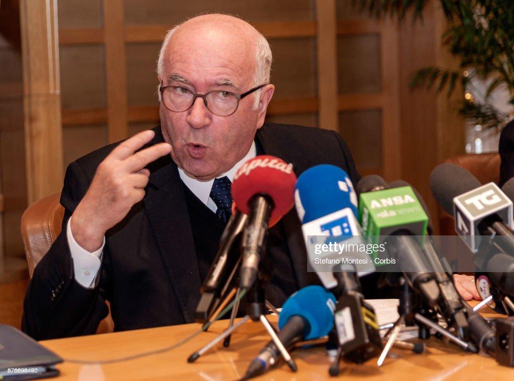 Italian Football Federation  President Carlo Tavecchio Resigns