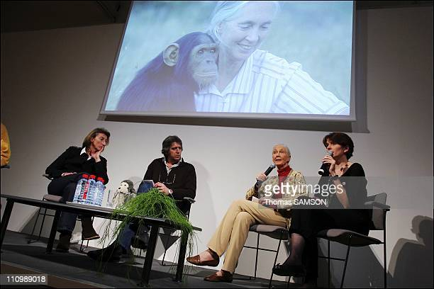 The press conference of Jane Goodall and the support committee covenant ecological of Nicolas Hulot in Paris france on February 20th 2007 The sailor...
