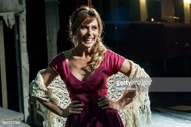 POLITEAMA NAPLES ITALY/ CAMPANIA ITALY The Press Conference of the Musical Rosso Napoletano was held at the Teatro Politeama in Naples with Serena...