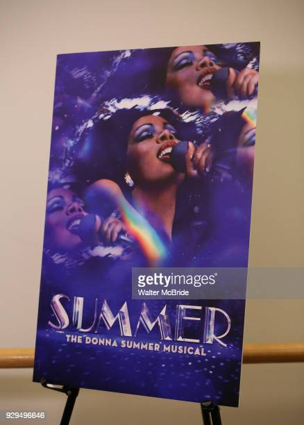 The press Meet Greet for 'Summer The Donna Summer Musical' on March 8 2018 at the New 42nd Street Studios in New York City