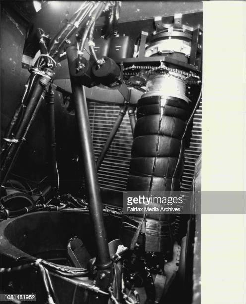 The pressure chamber with telescope inside viewNASA Lockheed C141A aircraft in Richmond RAAF base to make observation tonight of Planet ***** and new...