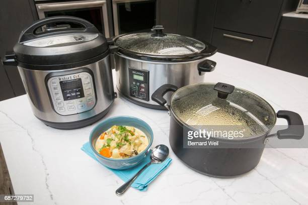 TORONTO ON MAY 8 The pressure cooker slow cooker and stovetop are used to make three versions of chowder