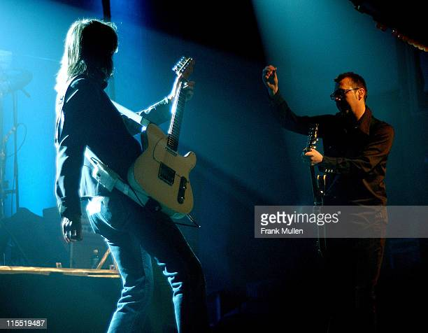 The Pretenders' Chrissie Hynde and Adam Seymour perform at the Tabernacle in Atlanta Jan 27 2003