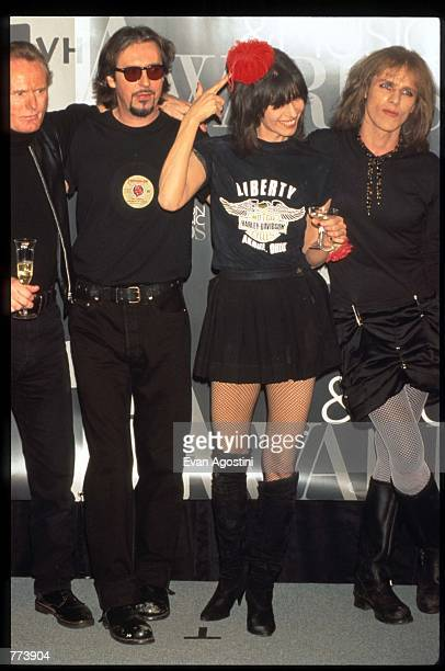 The Pretenders stand with lead singer Chrissie Hynde at the 1995 VH1 Fashion and Music Awards December 3 1995 in New York City The awards which were...