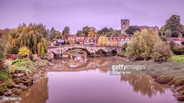 the pretty and idlic aylesford village in kent, england - rural scene stock pictures, royalty-free photos & images