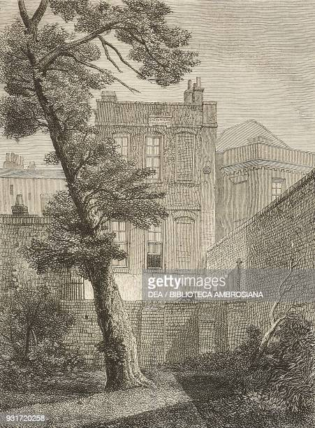 The pretty gardenhouse in Petty France no 19 York Street Westminster where John Milton resided United Kingdom illustration from the magazine The...