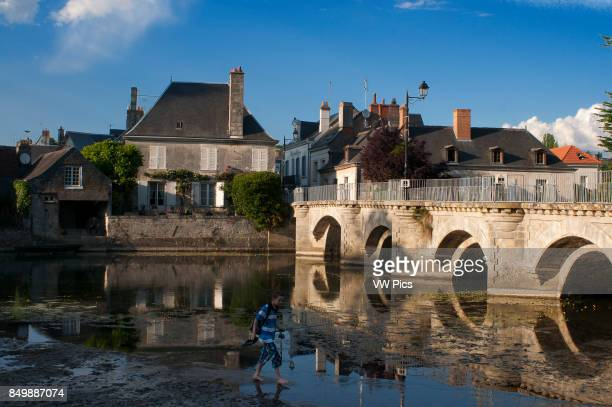 The pretty quiet village of Azay le Rideau by the Indre river Loire Valley France