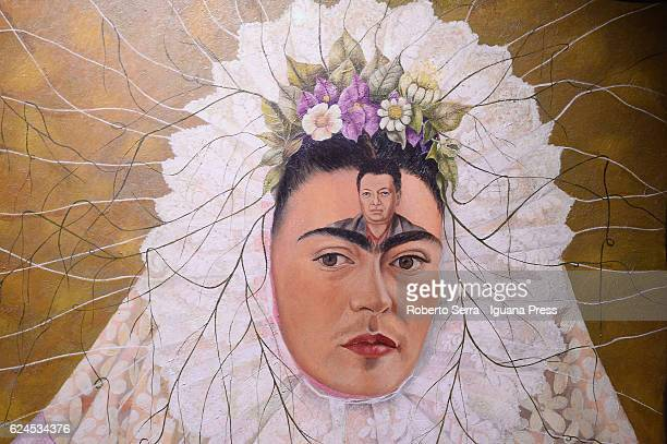 The preview of the exhibition Frida Kahlo and Diego Rivera Mexican Art in the Gelman Collection at Albergati Palace on November 18 2016 in Bologna...