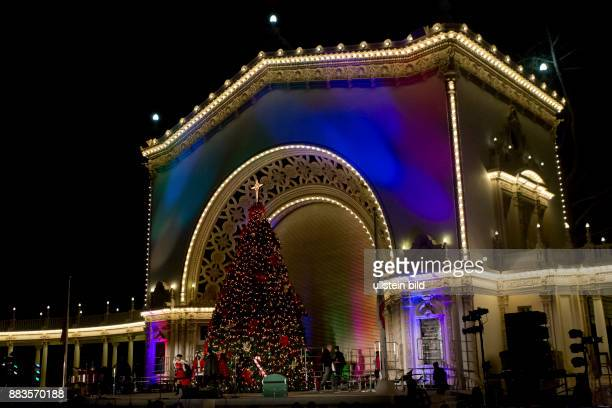 The preXmas December Nights at Balboa Park with food vendors music and dance performances