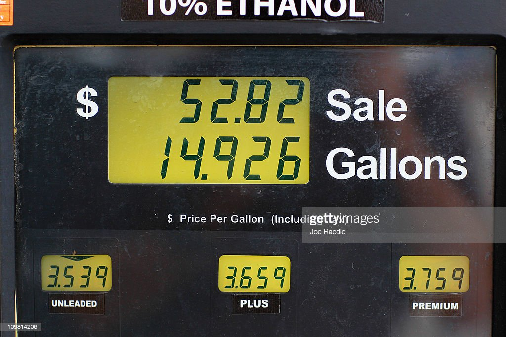 The price for a gallon of gas is seen at a Ugas station March 6, 2011 in Miami, Florida. The national average for a gallon of self-serve, regular gas was $3.50 a .33 cent increase from two weeks ago. This was the second largest two-week jump in gas prices ever, largely due to the events unfolding in Libya.