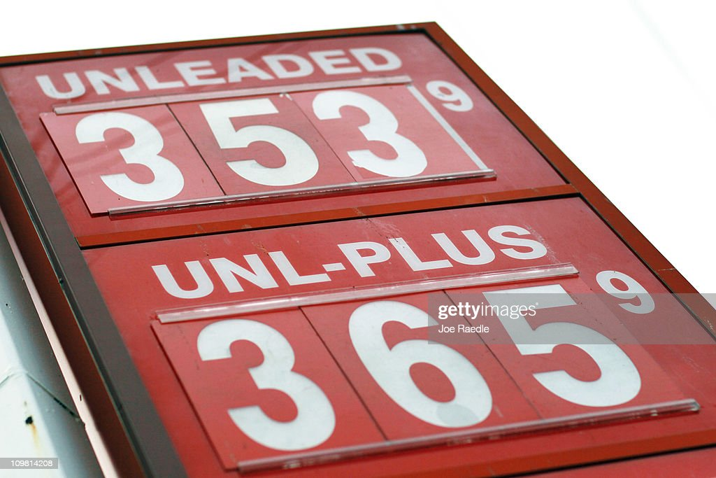 The price for a gallon of gas is seen at the Ugas station March 6, 2011 in Miami, Florida. The national average for a gallon of self-serve, regular gas was $3.50 a .33 cent increase from two weeks ago. This was the second largest two-week jump in gas prices ever, largely due to the events unfolding in Libya.