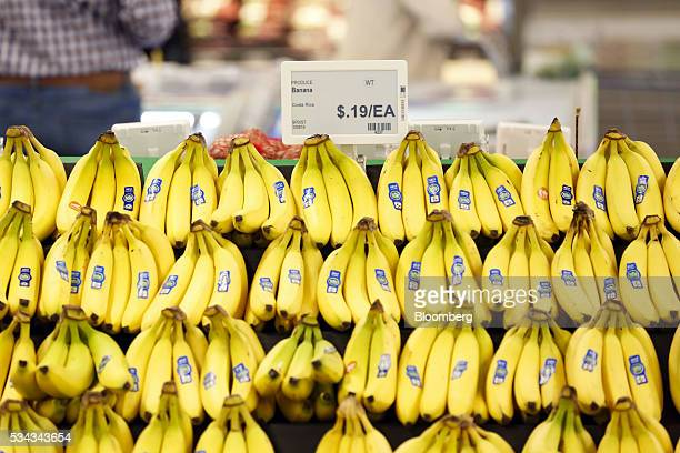 The price for bananas is displayed on an electronic price sign on the opening day of the 365 by Whole Foods Market store in the Silver Lake...