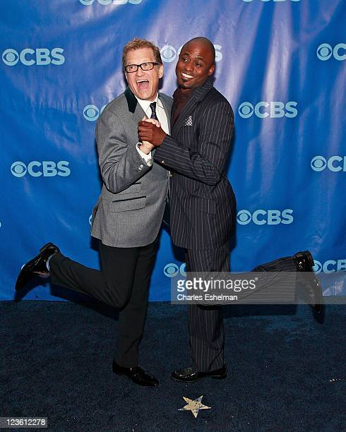 The Price is Right actor Drew Carey and Let's Make a Deal actor Wayne Brady attend the 2011 CBS Upfront at The Tent at Lincoln Center on May 18 2011...