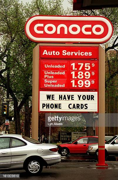 The prices for super unleaded gasoline at the Conoco station on East 8th Ave and Josephine is over $199