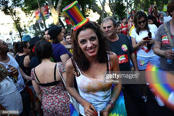 The Pride Parade covers one of the mains streets in Madrid under the slogan ¨Laws for the real equality now¨ on July 2 2016 It is the central event...
