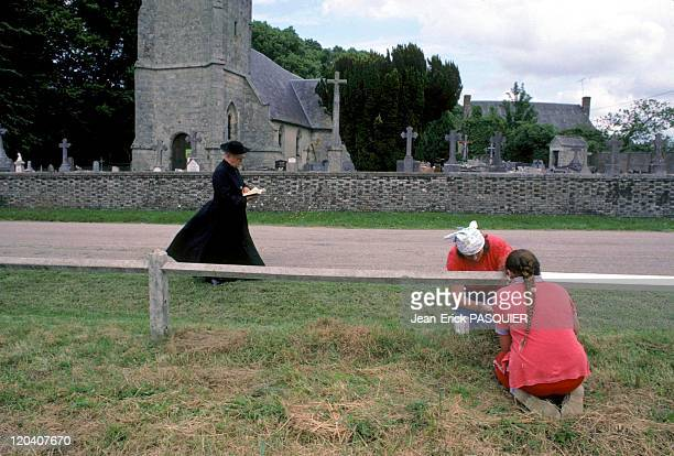 The Priest And The Women Painters In France In 1987 Bucolic image the priest reading his breviary and women painters of the barriera Country Priest...