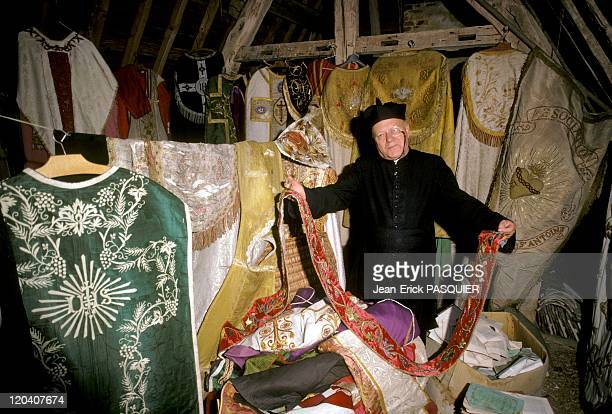 The Priest At Grenier In France In 1987 The priest Chamblac has a wonderful collection of vestments including more than two hundred fifty...
