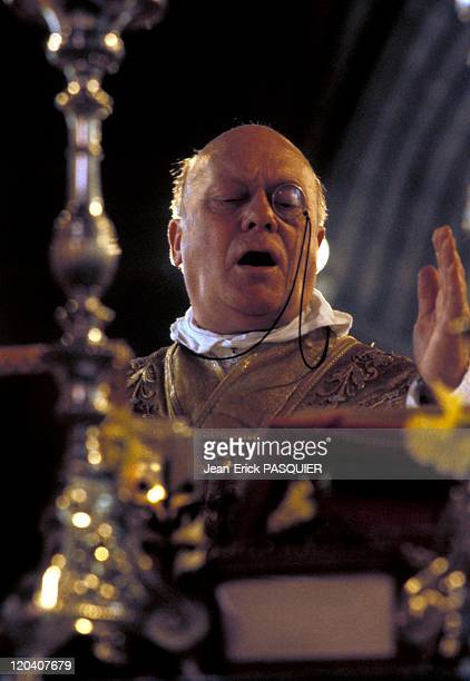 The Priest At Monocle In France In 1987 High Mass on SundayThe priest carries monoclea Country Priest Father Montgomery Quintin Wright of Scottish...