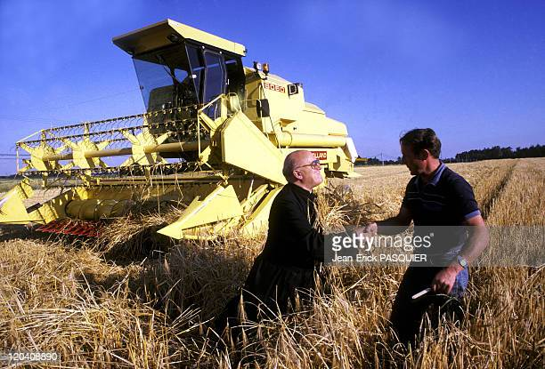 The Priest In Fields In France In 1987 The abbot does not hesitate to travel the country to greet his flocka Country Priest Father Quintin Montgomery...