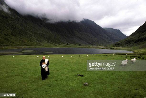 The Priest In Scotland In United Kingdom In 1987 The abbot in Scotland during his annual pilgrimage to his homelandHere at the pass of Glencoea...