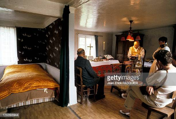 The Priest In The Humble House In France In 1987 The abbot went to the bedside of an elderly gentleman Van Honsebrouck to say mass in his humble...
