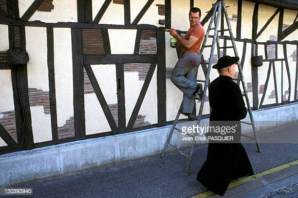 The Priest Is Feeling In France In 1987 A priest in a cassock and hat round always brings some surprises in the population of the villages of...