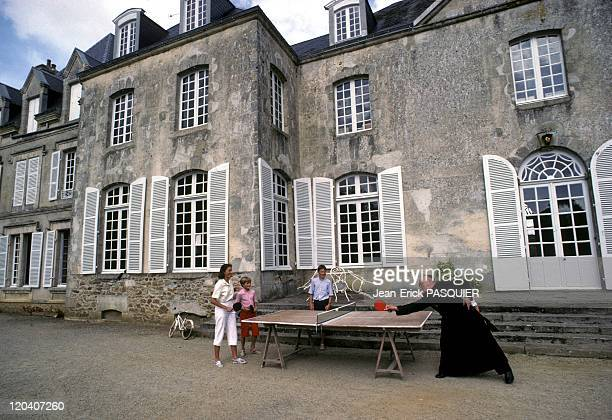 The Priest Play TableTennis In France In 1987 He is the pastor of the poor but also rich people here he goes to visit the neighboring gentry a good...