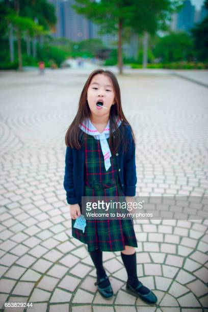 The primary school girl