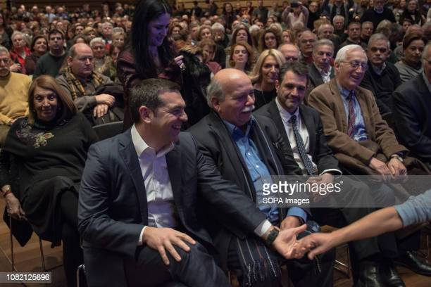 The Prime Minister Alexis Tsipras seen before his speech The Prime Minister Alexis Tsipras spoke about FYROM agreement at the Athens Concert Hall