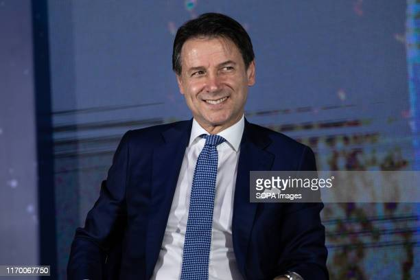The Prime minister Giuseppe Conte speaks during the Atreju 2019 youth meeting that takes place every year since 1998 The 2019 edition took place at...
