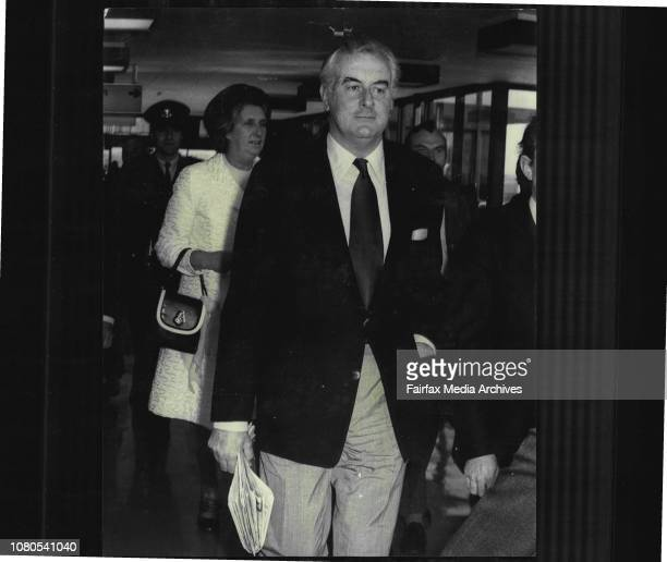 The Prime Minister Mr E G Whitlam and his wife Margaret left Sydney to day to fly to Mexico USA and Canada July 24 1973