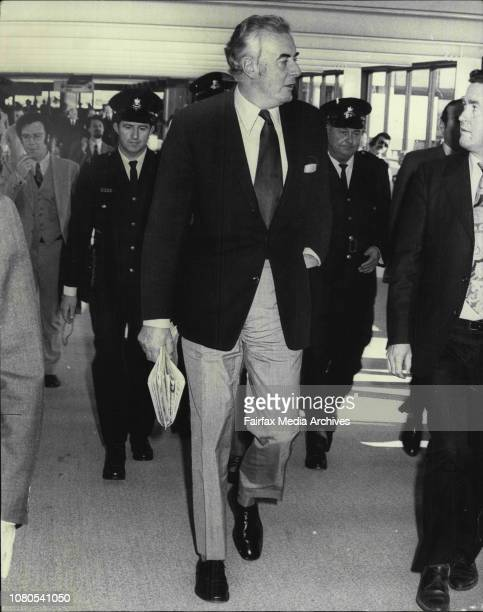 The Prime Minister Mr EG Whitlam and his wife Margaret left Sydney to day to fly to Mexico USA and CanadaThe Prime Minister Mr Whitlam and Mrs...