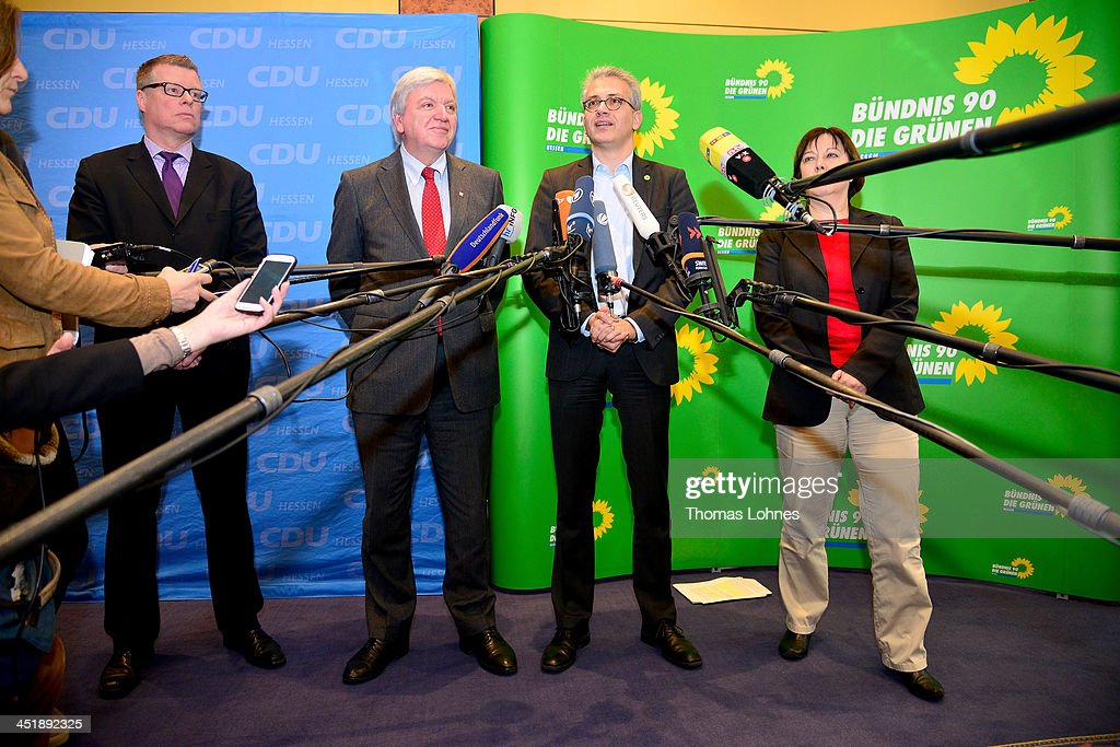 Greens And CDU Seek Historic Coalition In Hesse : News Photo