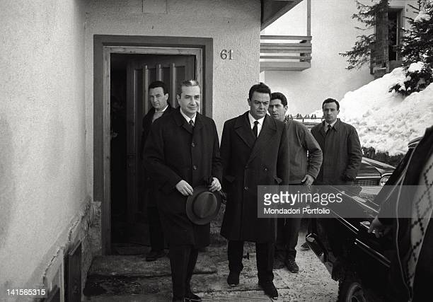 The Prime Minister of Italy Aldo Moro is solving the crisis after the resignation of the Italian Minister of Foreign Affairs Amintore Fanfani and is...