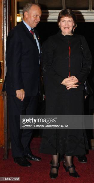 The Prime Minister of New Zealand Helen Clark is greeted by British Legion President Air Marshal Ian Macfadyen as they arrive for the Royal British...