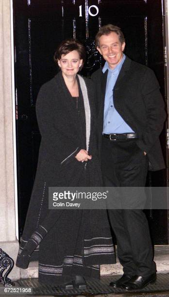 The Prime Minister Tony Blair and his wife Cherie leave No 10 Downing Street for an evening out in London 19th September 1999