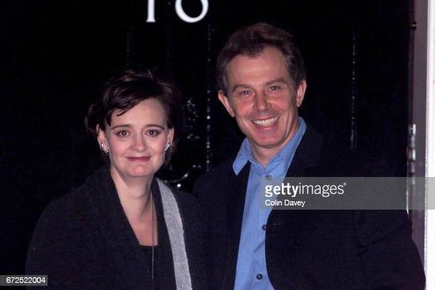 The Prime Minister Tony Blair and his wife Cherie, leave No 10 Downing Street for an evening out in London, 19th September 1999.