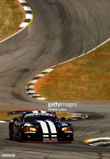 The Primetime Race Group Bluepoint Energy/Hankook Tire USA Dodge Viper Competition Coupe driven by Joel Feinberg and Chris Hall during practice for...
