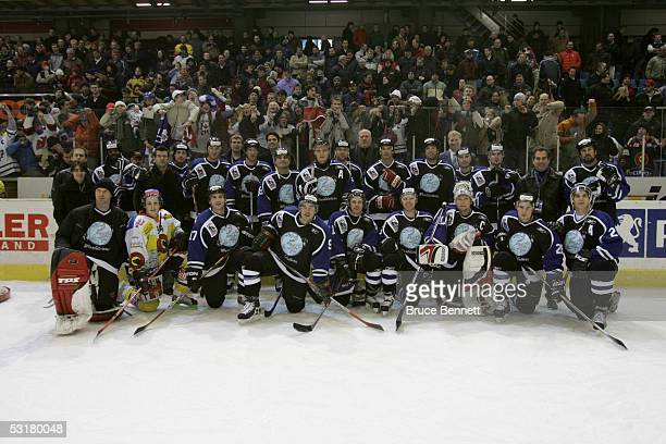 The Primus Worldstars pose for a portrait before the game against SC Bern on December 15, 2004 at Bern Arena in Bern, Switzerland. The Worldstars won...