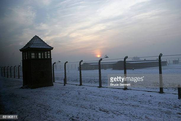 The Primus Worldstars visit Auschwitz Concentration Camp as they travel from Oslo Norway to Katowice Poland on December 22 2004
