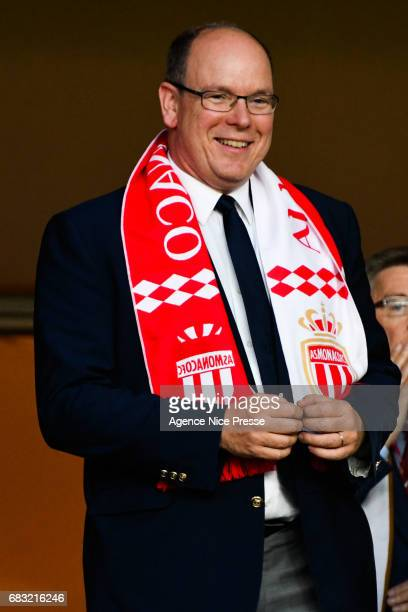 The Prince Albert of Monaco during the Ligue1 match between As Monaco and Lille OSC at Louis II Stadium on May 14, 2017 in Monaco, Monaco.