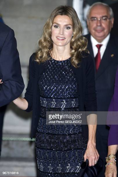 TRH the Prince and Princess of Asturias Felipe and Letizia preside the 2009 Prince of Asturias Awards Grand Presentation Ceremony at Campoamor...